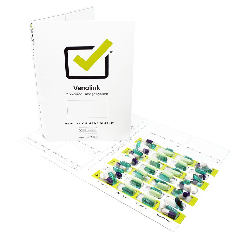 Trifold Weekly Cold Seal Cards Green